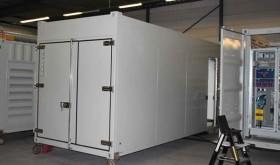 Container ingericht met een hoogwaardige coating.